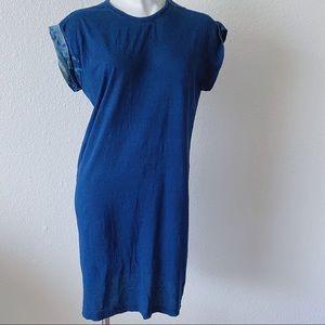 DIESEL   SLIP ON   DENIM LIKE BLEACH TEE DRESS U16